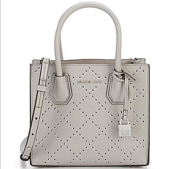 d2e3fad89d2b Michael Kors Mercer Stud Grommet Leather Messenger